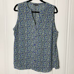 Adrianna Papell Size XL Pattern Print Blouse